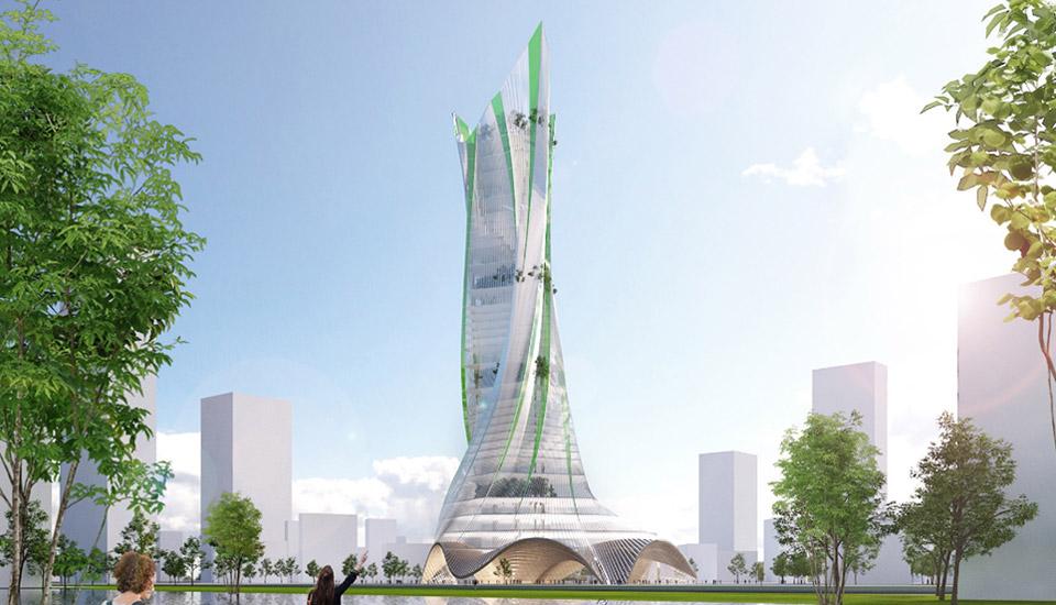 La French Dream Tower dessine un projet emblématique, spectaculaire, bioinspiré ! Il donne corps à l'innovation digitale française au service de la ville Il rend visible son innovation biotechnologique et environnementale. Son architecture, prend exemple sur la nature comme une source d'inspiration. En cela, c'est un projet franco-chinois, parce que la nature est une valeur essentielle en Chine. Il reprend la silhouette iconique de la tour Eiffel, la transforme en s'inspirant des fleurs, mais aussi des robes des parisiennes, et assemble le tout dans un projet aux lignes souples et fluides, presque dansantes. Ainsi sa forme incarne simultanément l'audace constructive et innovative, le glamour de la haute couture, et les merveilles de la nature.